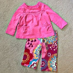 The Children's Place Girls Shirt & Pant Set 6-9M